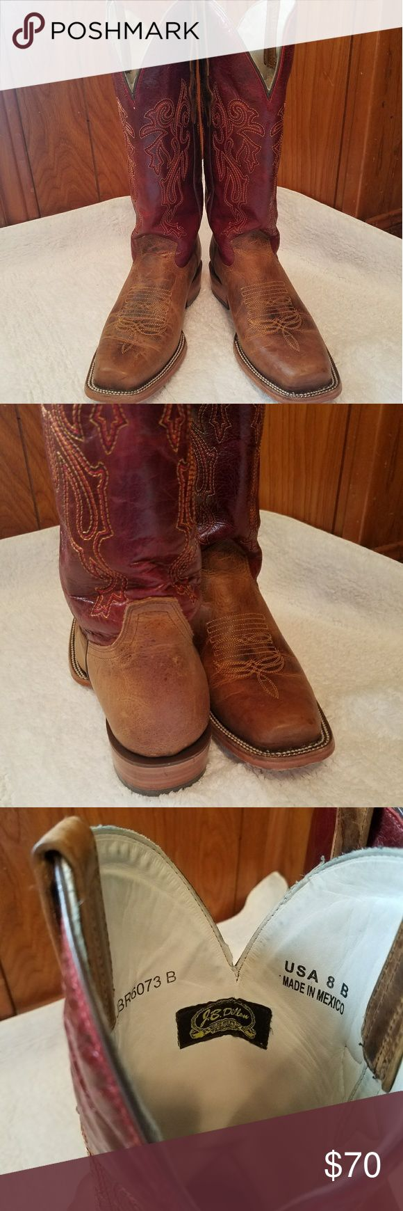 J.B. Dillon Leather boots  Good condition square toe J.B. Dillon  Shoes Heeled Boots