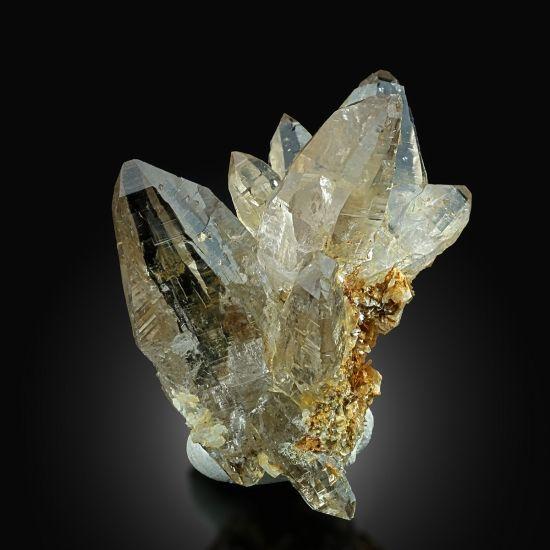 Quartz with Muscovite - Val Cavrein, Russein Valley, Grischun, Switzerland Size: 6.0 × 4.5 × 3.0 cm
