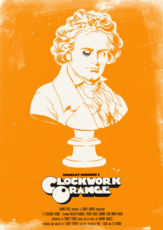A Clockwork Orange - Movie Poster by Joel Amat Güell