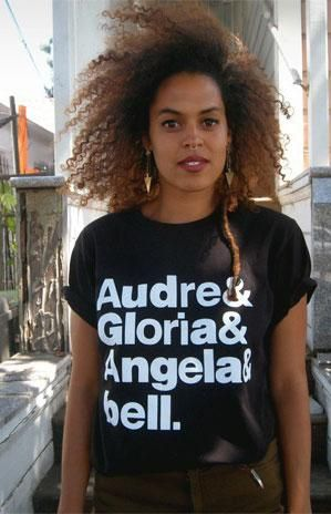 "The Goddesses -- Audre Lorde, Gloria Steinem, Angela McRobbie and Bell Hooks -- will get you through the day with this ""The Goddesses"" T-shirt."