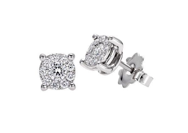 Orecchini punto luce Recarlo Nodo D' Amore con Diamanti XD989/012