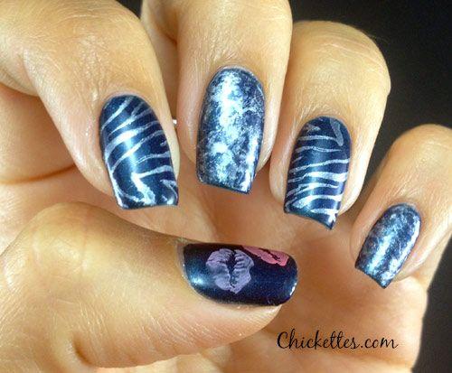 Mix & Match Nails - Zebra Print, Lips & Saran Wrap Design