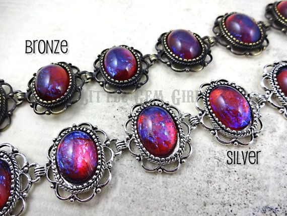 Mexican Opal Dragons Breath Bracelet  Victorian by LittleGemGirl