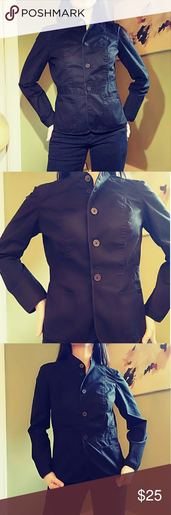 💠TALBOTS BLACK STRETCH JACKET 💠 Excellent condition. Cotton and a lil spandex.  Feel free to ask any questions. For reference I'm 5'6. 135 lbs Talbot's Jackets & Coats Blazers