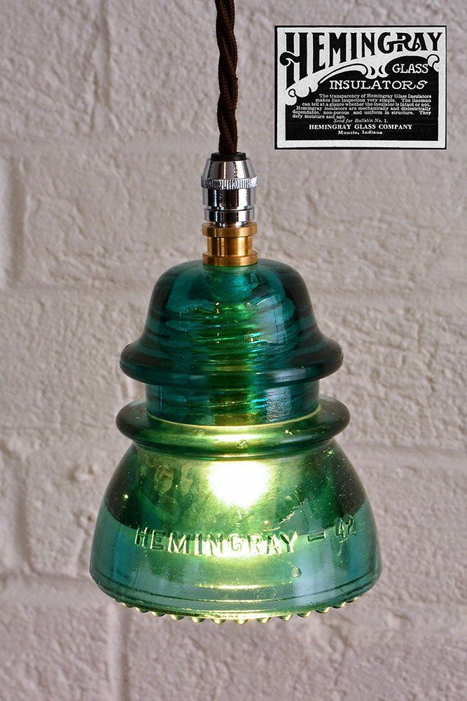 1000 ideas about insulator lights on pinterest glass for Insulator pendant light