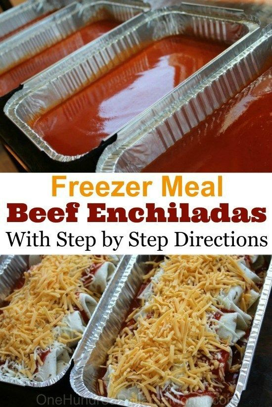 Freezer Meal Recipe - Beef Enchiladas - One Hundred Dollars a Month