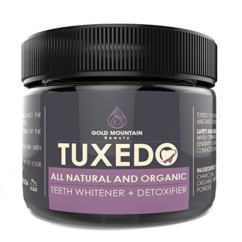 All Natural Charcoal Teeth Whitening, 'Tuxedo' Tooth and Gum - http://reviewscircle.com/health-fitness/dental-health/natural-teeth-whitening/