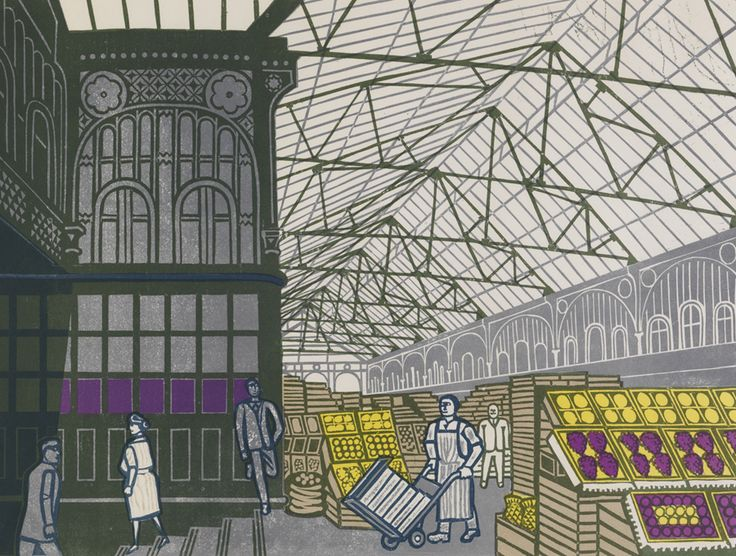 Covent Garden by Edward Bawden (1967)