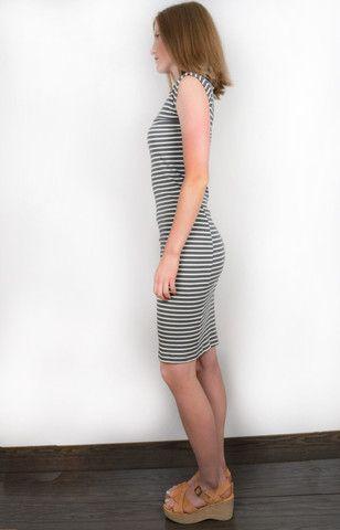 Twist Dress Stripe. Organic cotton. Made in USA. www.sustainlux.com