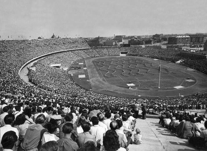 1953. augusztus 20. Népstadion megnyitóünnepsége.