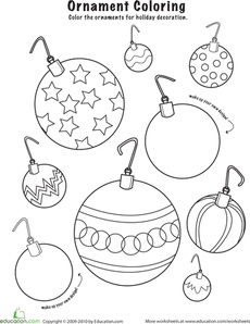 Christmas ornament colouring in