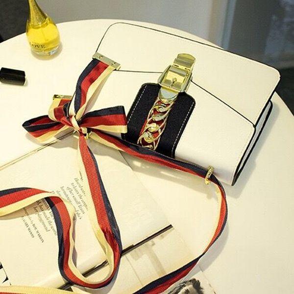 S новых кожаные сумки небольшой кожаный мешок с деньгами пряжки атласного банта моды портативной сумка Сумкой