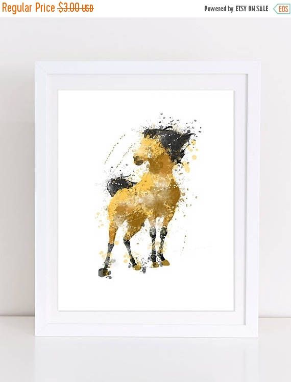 60%OFF Spirit Stallion of the cimarron watercolor poster