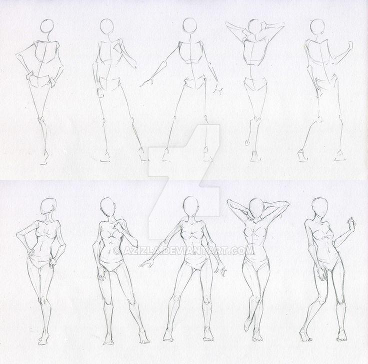 Sketches 48 - Woman standing practice 2 by Azizla.deviantart.com on @DeviantArt