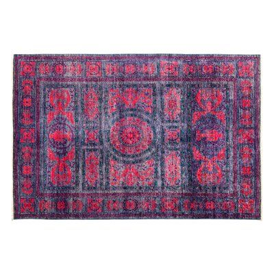 Darya Rugs Eclectic Hand-Knotted Purple Area Rug