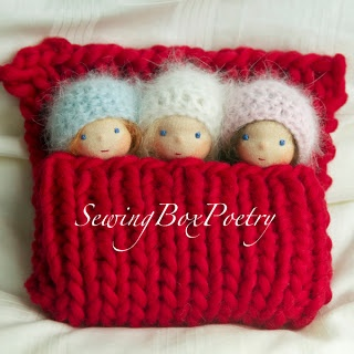 """""""Sewing Box Poetry"""": Three little babies..."""