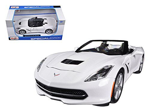 2014 Chevrolet Corvette C7 Stingray Convertible White 1/24 Car Model by Maisto >>> You can find more details by visiting the image link. (This is an affiliate link and I receive a commission for the sales)