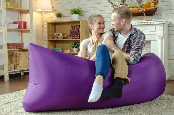 Надувной диван Lamzac: преимущества, примеры использования и тонкости ухода http://happymodern.ru/naduvnoj-divan-lamzac/ Фиолетовый диван ламзак в интерьере