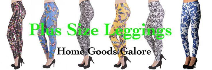 Plus Size Print Leggings Soft Colorful Pants #plussize #leggings