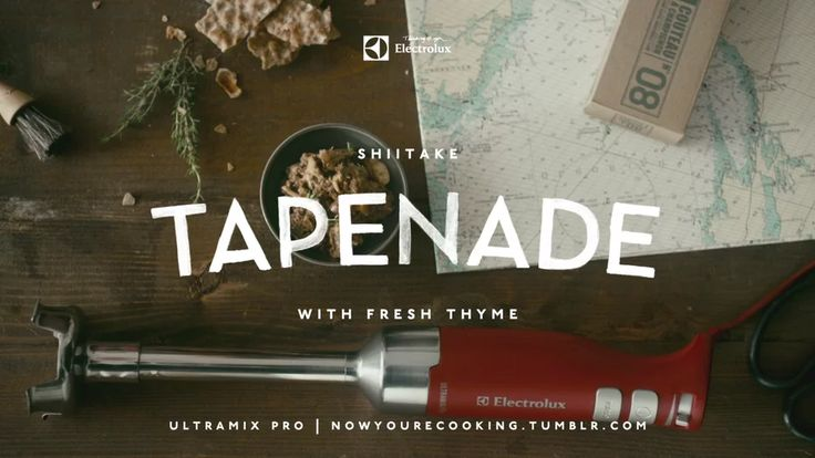Now You're Cooking - Shiitake Tapenade with Fresh Thyme on Vimeo