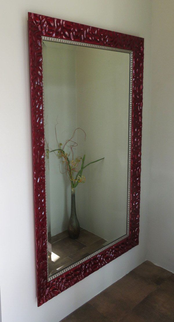 Image result for red  mirror  frame on home,nari