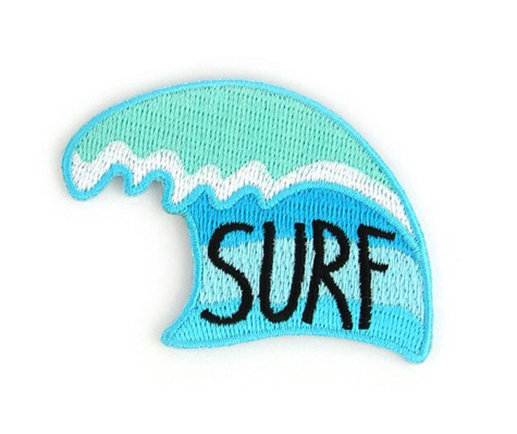 Perfect Wave Decorative Embroidered Sew or Iron-on Backing Patch