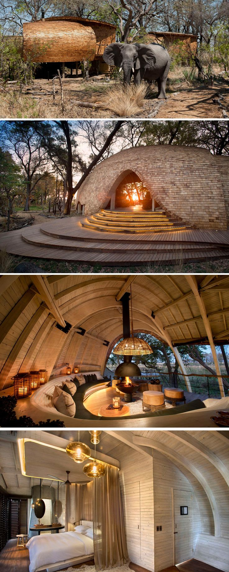 Michaelis Boyd has worked together with local architect Nick Plewman, to design Sandibe Okavango, a sustainable safari lodge in Botswana.