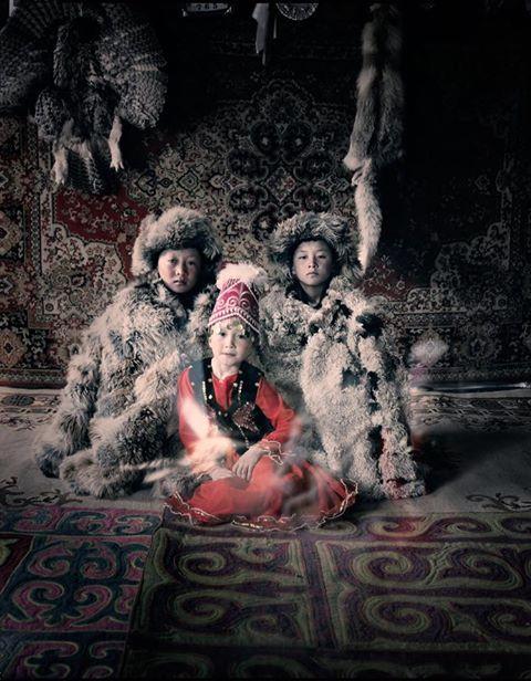 Kazakh-Turk children in their Yurt (Ger)!