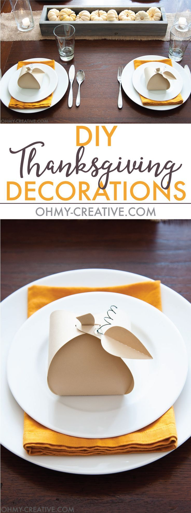 Make these easy paper pumpkins for your