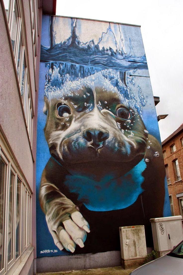 Street art by Smates (Bart Smeets) in Mechelen, Belgium