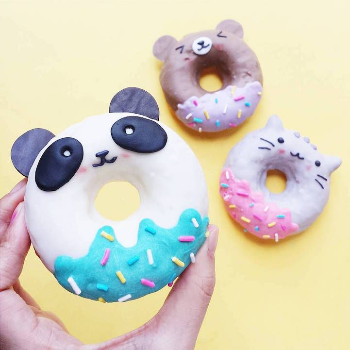 Doughnuts are more than just a tasty treat—they're a blank slate for amazing food art. Australian baker Vickie Liu peppers her Instagram account with adorable iterations of the beloved pastry, crafting smiling creatures with colorful icing and playful additions like ears and horns. Using ingredients such as matcha powder and chocolate for pigment, she sculpts cats, pandas, and faithfully recreates beloved cartoon characters. Sprinkles, like spectacular jewels, are often well-placed accents…