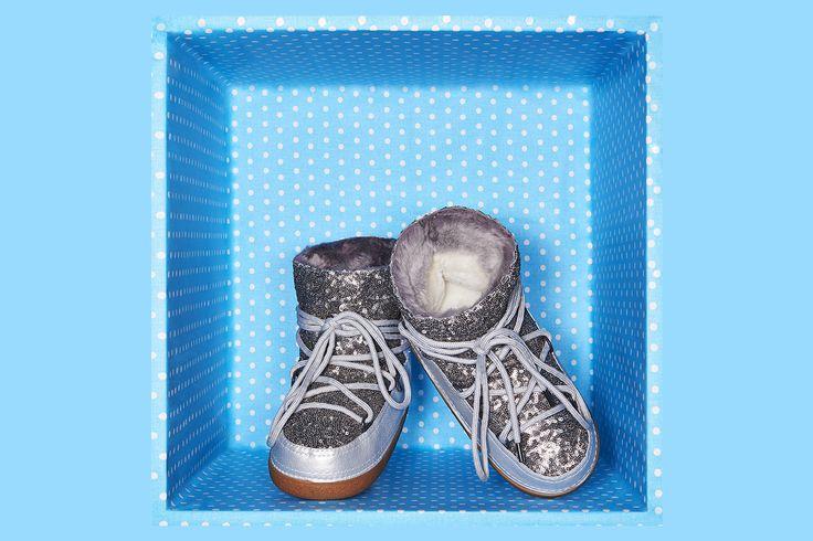 IKKII Boots Sequin Silver