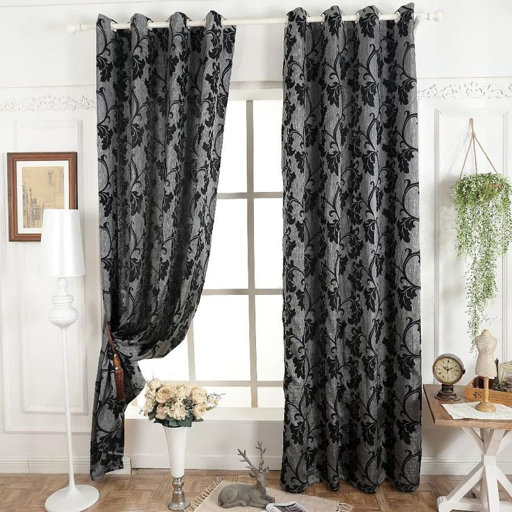 Aliexpress.com : Buy Dark grey blinds window treatments semi blackout 3D curtains for living room modern curtain fabrics ready made curtain from Reliable curtains bedding suppliers on Simante Home Decoration    Alibaba Group