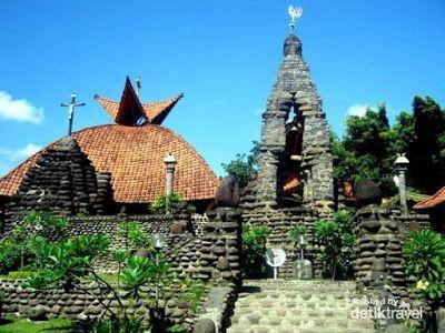 Wisata Religi Kristen Katholik Jogjakarta Yogyakarta & Jawa Tengah: GUA MARIA POHSARANG - KEDIRI