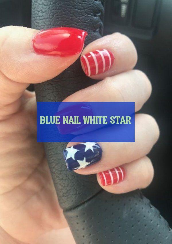 blauer Nagel weißer Stern | 21.09.2019