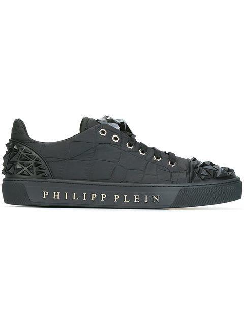 PHILIPP PLEIN Jaguar Motif Sneakers. #philippplein #shoes #sneakers