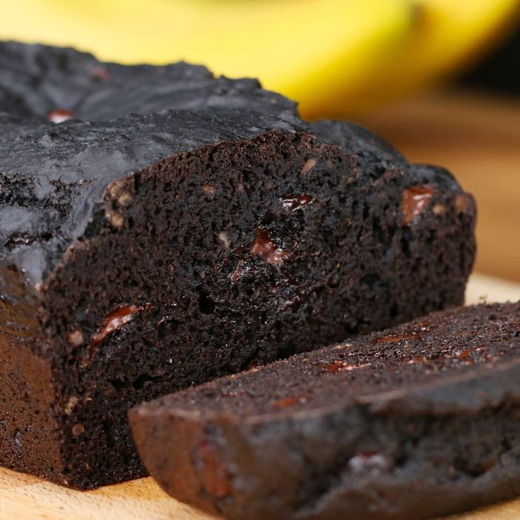 This Dark Chocolate Banana Bread Is Literally Everything