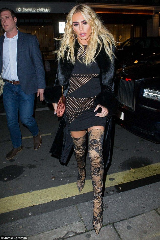 6cd3f4151fb Petra Ecclestone sizzles as she enjoys a night out with sister ...