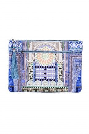 COURTYARD OF MAIDENS LARGE CANVAS CLUTCH