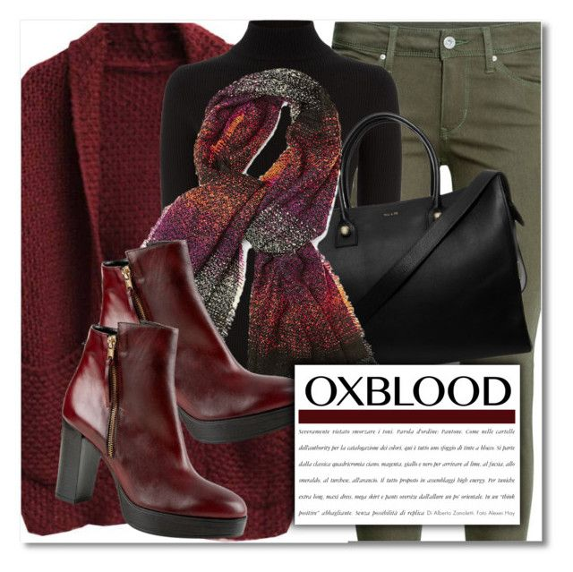 """""""Hot Color Trend: Oxblood"""" by chloe ❤ liked on Polyvore featuring H&M, Warehouse, Paul & Joe, Steve Madden, Carvela Kurt Geiger, Color and polyvorecontest"""