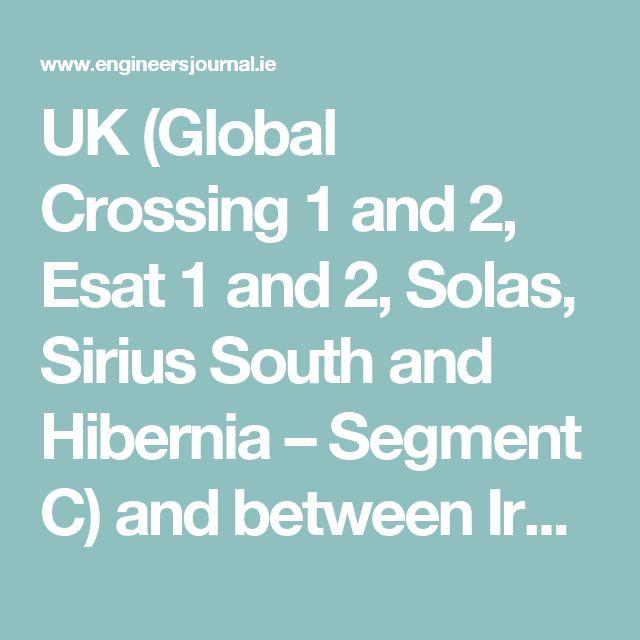 UK (Global Crossing 1 and 2, Esat 1 and 2, Solas, Sirius South and Hibernia – Segment C) and between Ireland and the US (Hibernia – Segment A and Hibernia – Segment D