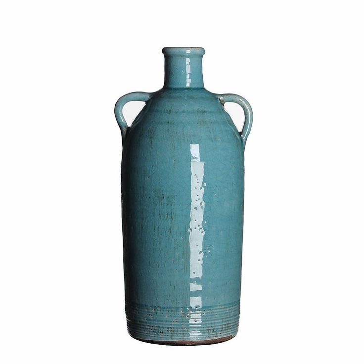 E18,- // Casa Vivante Sil Kruik Turquoise - 15 cm