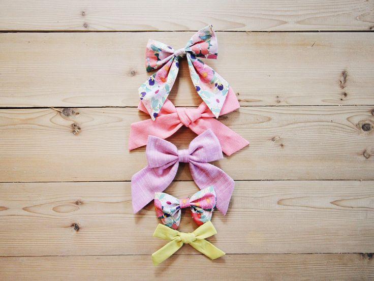 Jessica Garvin x Free Babes // Watermelon Linen Oversized Schoolgirl Bow