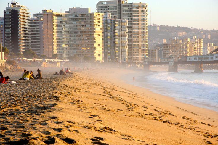 Playa El Sol.   #ViñadelMar #Chile #HSM #HotelSanMartín #Turismo