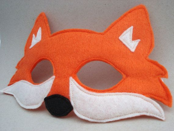 Felt Fox Mask by herflyinghorses on Etsy