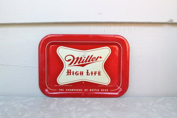 Rare Miller High Life Metal Tip Tray by MabelStMiscellany on Etsy, $25.00