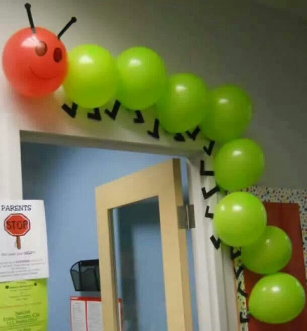 Hungry caterpillar balloon decoration