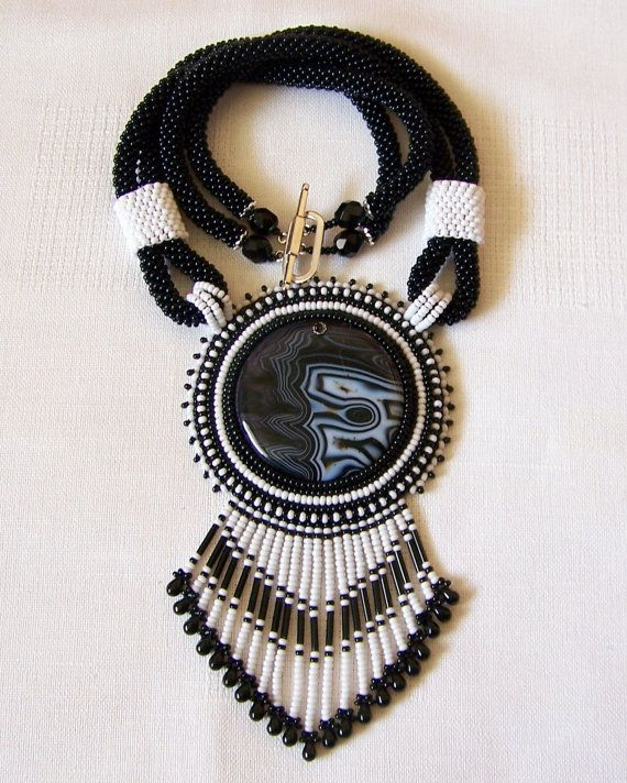 Verklaring Bead Embroidery halsketting hanger kralen door lutita