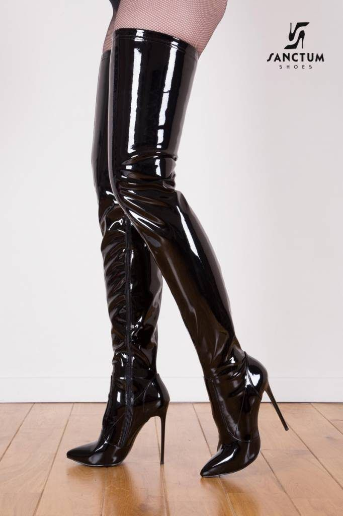 5975a11e14f thigh high boots … giaro black shiny giaro WMYEIIZ