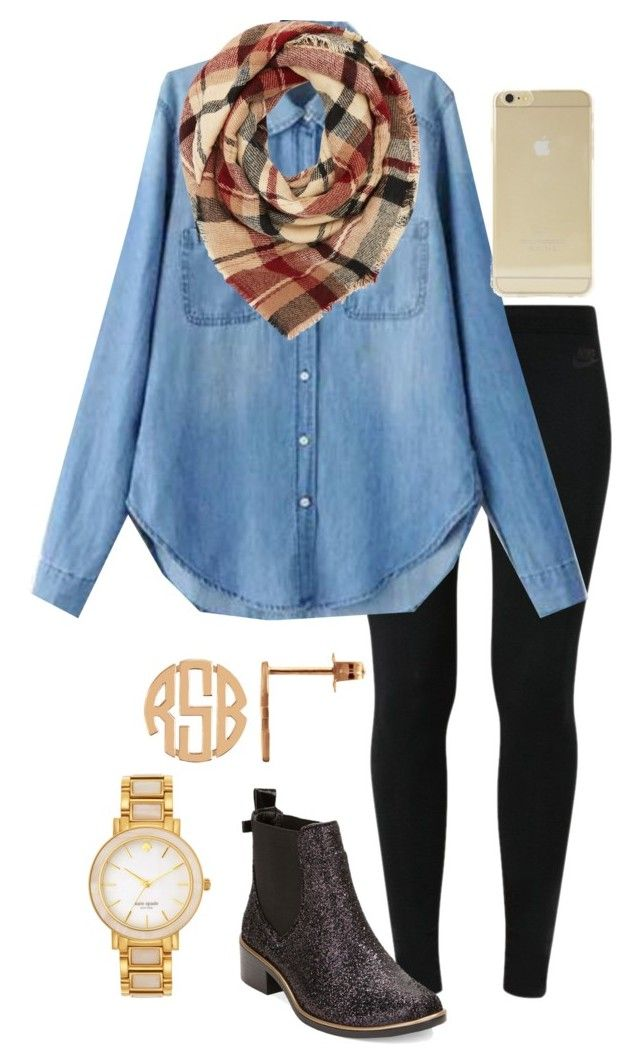 """""""Happy Friday!!! """" by madelyn-abigail ❤ liked on Polyvore featuring NIKE, Kate Spade, Charlotte Russe and Sonix"""